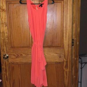 Banana Republic Coral pleated dress.